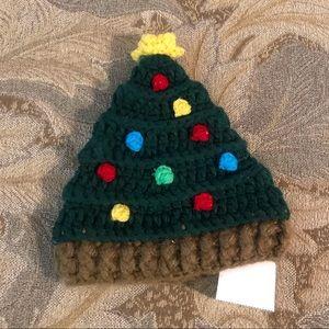 Little Me/So Dorable Christmas Tree knit hat
